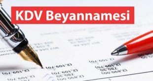 1 nolu KDV beyannamesinde değişiklik, 2019